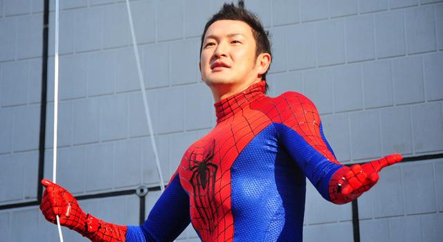 中村獅童/『アメイジング・スパイダーマン2』除幕式イベント in 銀座ソニービル