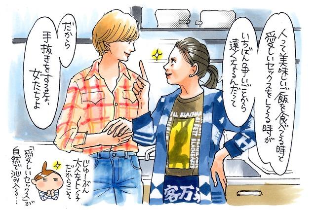 進藤やす子『食べる女』イラスト(c)進藤やす子