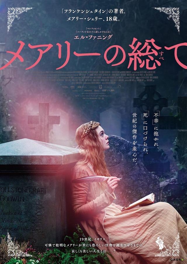 『メアリーの総て』ポスタービジュアル(c)Parallel Films (Storm) Limited / Juliette Films SA / Parallel (Storm) Limited / The British Film Institute 2017