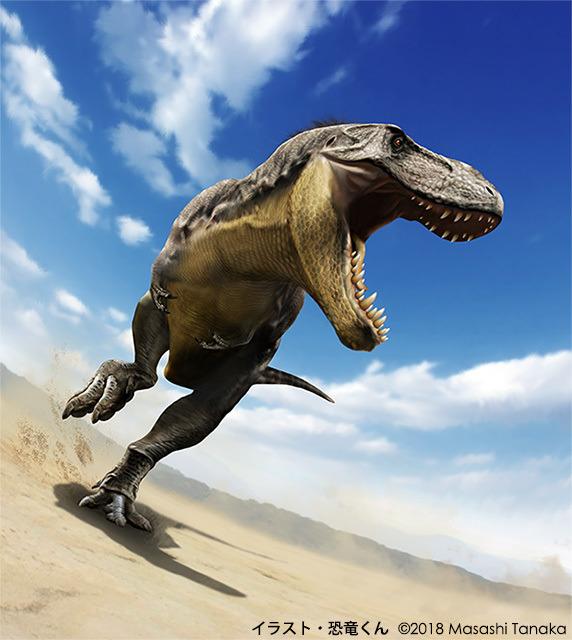 恐竜くん自身が描いたT-レックスのイラスト
