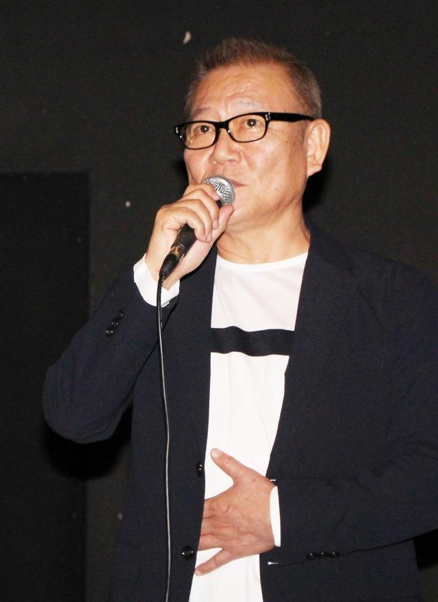 """第23回釜山国際映画祭『十年 Ten Years Japan』國村隼挨拶の様子(C)2018 """"Ten Years Japan"""" Film Partners"""