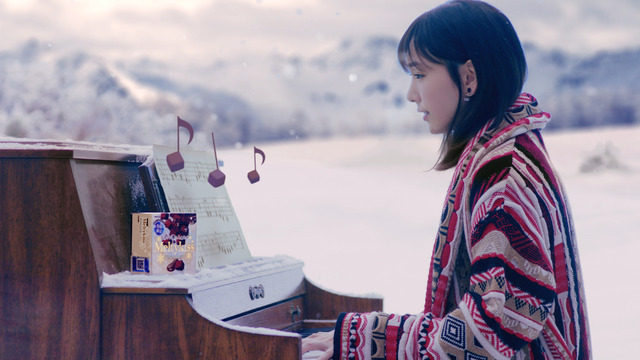 「メルティーキッス」新TVCM「雪原のピアノ篇」