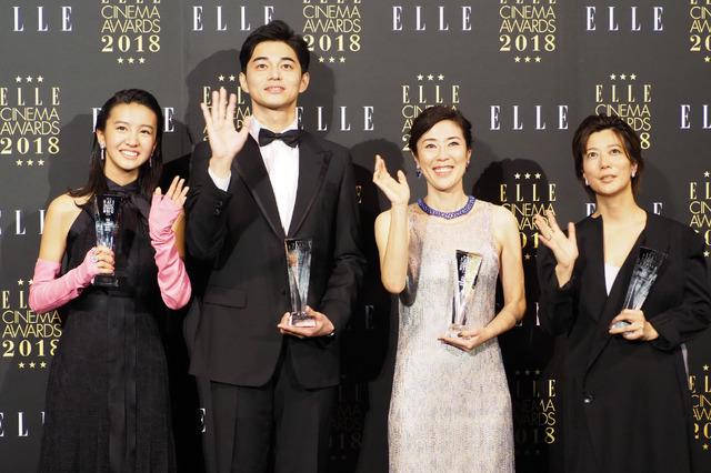 Koki,、東出昌大、寺島しのぶ、三島有紀子監督/「エル シネマアワード2018」授賞式