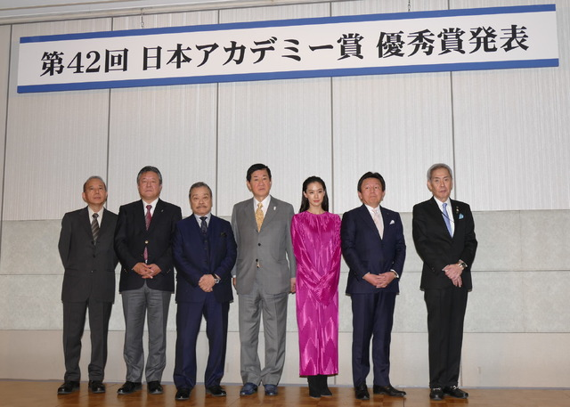 第42回日本アカデミー賞優秀賞発表記者会見