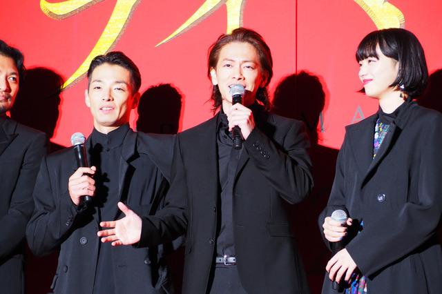 佐藤健、森山未來、小松菜奈/『サムライマラソン』完成披露イベント