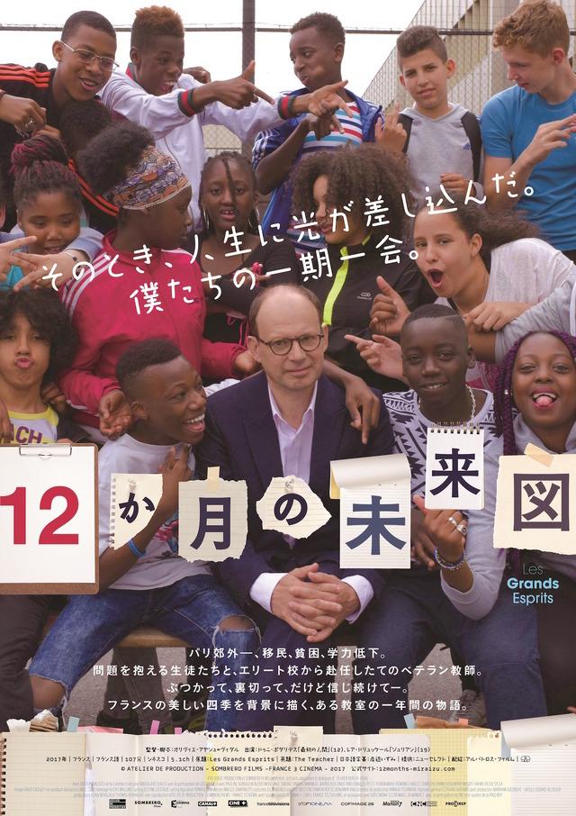 『12か月の未来図』ポスター (C)ATELIER DE PRODUCTION - SOMBRERO FILMS -FRANCE 3 CINEMA ー2017