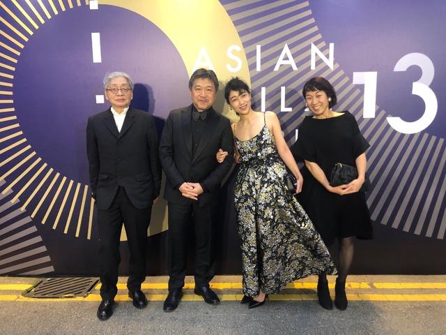 『万引き家族』アジア・フィルム・アワード レッドカーペット (C)2018フジテレビジョン ギャガ AOI Pro.