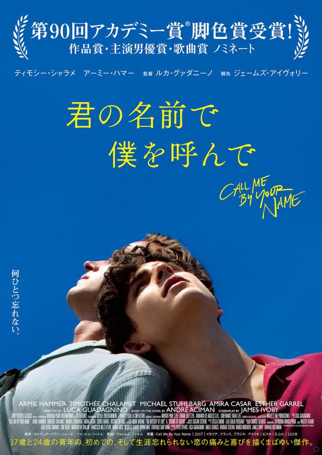 5月1日(水・祝)上映 『君の名前で僕を呼んで』(C)Frenesy, La Cinefacture