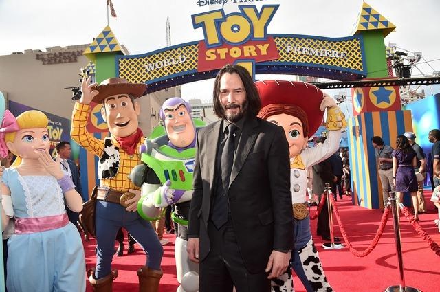 キアヌ・リーヴス『トイ・ストーリー4』ワールドプレミア(C)2019 Disney/Pixar. All Rights Reserved.