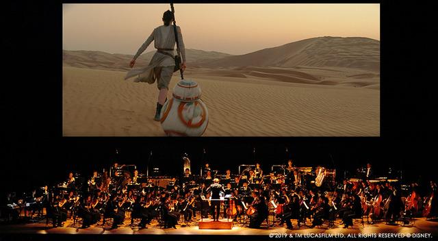 「スター・ウォーズ シネマ・コンサート」『フォースの覚醒』イメージ (C) 2019 & TM LUCASFILM LTD. ALL RIGHTS RESERVED (C) DISNEY Presentation licensed by DISNEY CONCERTS in association with 20th   Century Fox, Lucasfilm LTD.and Warner/Chappell Music