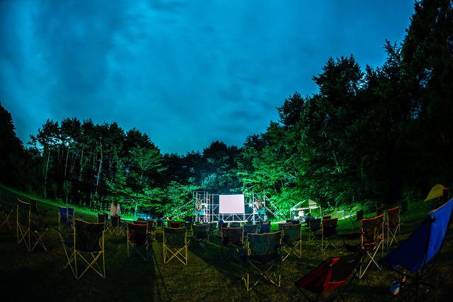 「富士 湖畔の映画祭」昨年の様子
