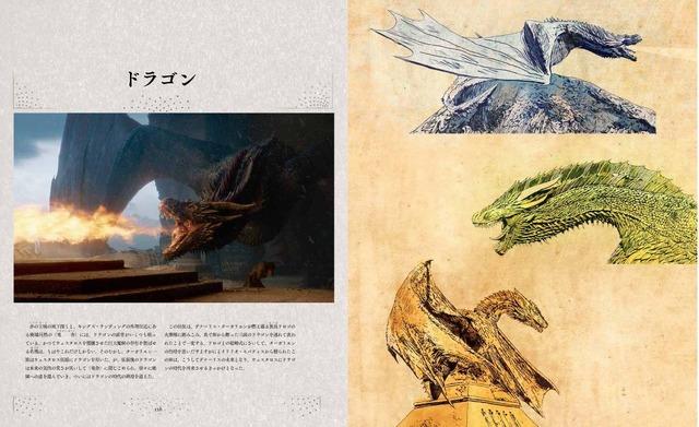 ドラゴン「ゲーム・オブ・スローンズ コンプリート・シリーズ 公式ブック」 本文素材提供 早川書房