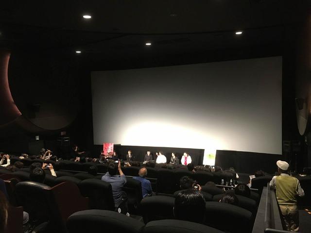 上映後のQ&A。お客さんの中にアミール・ナデリ監督もいました