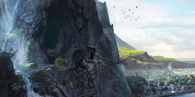 『マレフィセント2』ムーア国の滝(C)2020 Disney