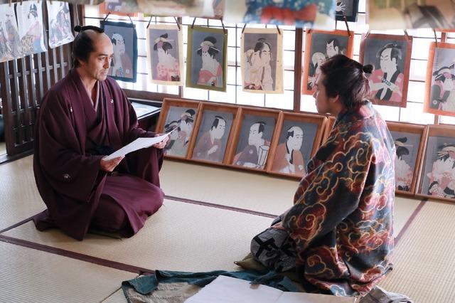 蔦屋重三郎(阿部寛)『HOKUSAI』(C)2020 HOKUSAI MOVIE