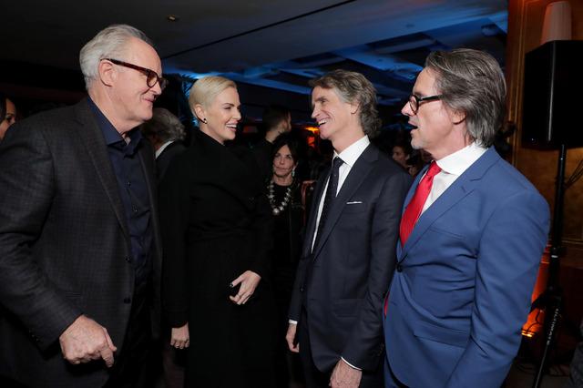 『スキャンダル』LA Special Screening 左からジョン・リスゴー、シャーリーズ・セロン、ジェイ・ローチ、チャールズ・ランドルフEric Charbonneau / Courtesy of Lionsgate