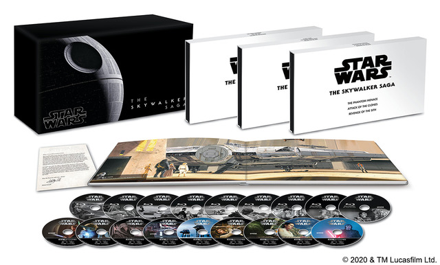 『スター・ウォーズ スカイウォーカー・サーガ 4K UHD コンプリートBOX(数量限定)』(C) 2020& TM Lucasfilm Ltd.