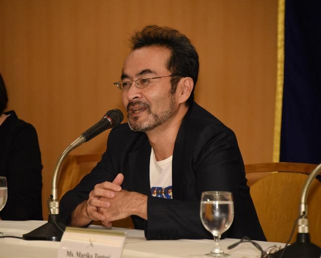 古舘寛治/映画『淵に立つ』試写及び記者会見