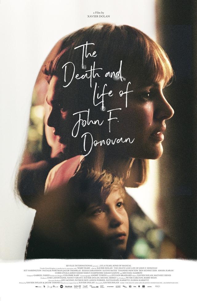誌面限定SPビジュアル(デザイン:大島依提亜)(C)2018THE DEATH AND LIFE OF JOHN F. DONOVAN INC., UK DONOVAN LTD.