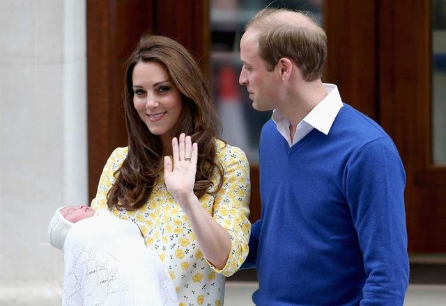 キャサリン妃&シャーロット王女&ウィリアム王子-(C)Getty Images