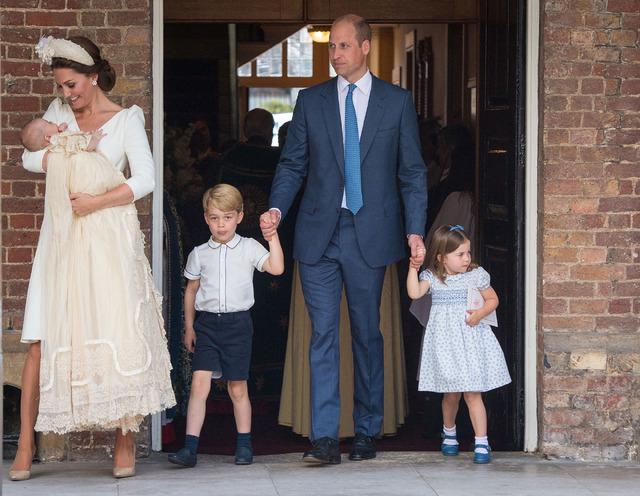 キャサリン妃、ウィリアム王子、ジョージ王子、シャーロット王女 (C) Getty Images