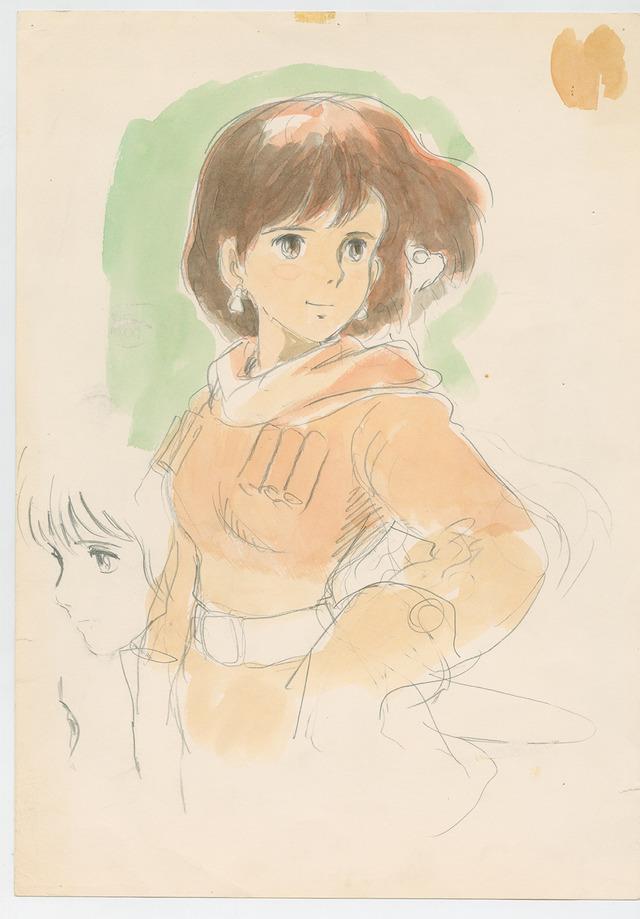 『宮崎駿展』イメージ画『風の谷のナウシカ』(1984)イメージボード 宮崎駿(C) 1984 Studio Ghibli・H