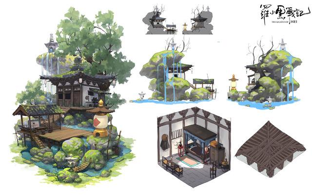 設定画〈ムゲン小屋〉『羅小黒戦記 ぼくが選ぶ未来』(C) Beijing HMCH Anime Co.,Ltd