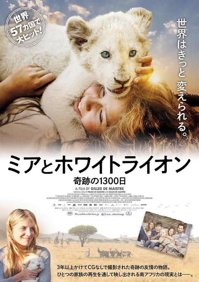 『ミアとホワイトライオン 奇跡の1300日』(C) 2018 Galatee Films - Outside Films - Film Afrika D - Pandora Film - Studiocanal - M6 Films