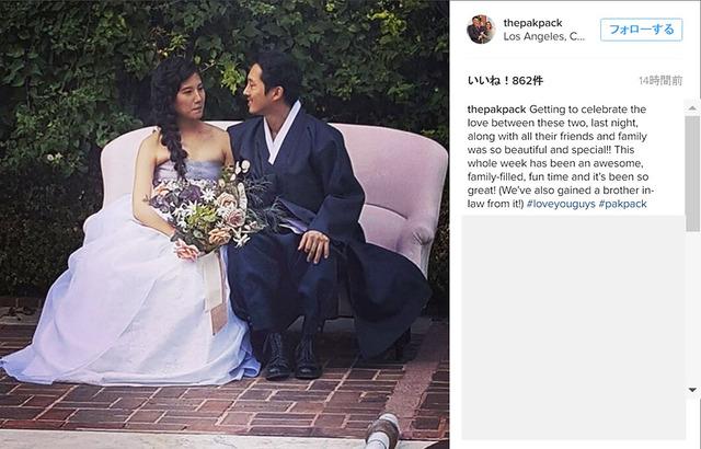 スティーヴン・ユァン&ジョアナ・パク-(C)Instagram