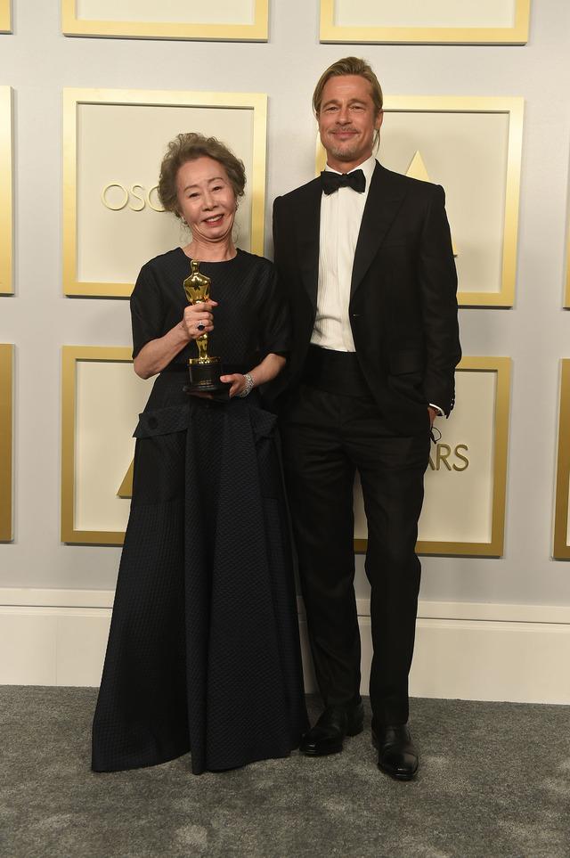 ユン・ヨジョン&ブラッド・ピット ABC via Getty Images