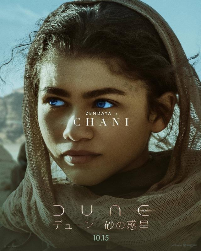 チャニ(ゼンデイヤ)『DUNE/デューン 砂の惑星』(C)2020 Legendary and Warner Bros. Entertainment Inc. All Rights Reserved